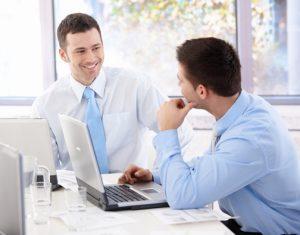 business men computers