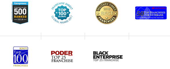 Collage of logos from awards listed on page
