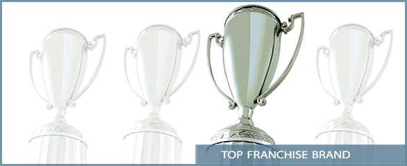Trophy Image with Top Franchise Brand text